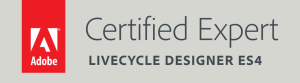 Adobe Certified Expert LiveCycle Designer ES4 badge