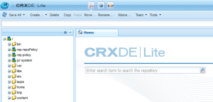 CRXDE Lite with WebDAV on